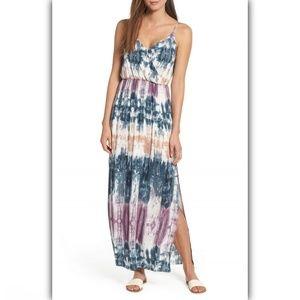 One Clothing Surplice Tie Dye Maxi Dress Medium
